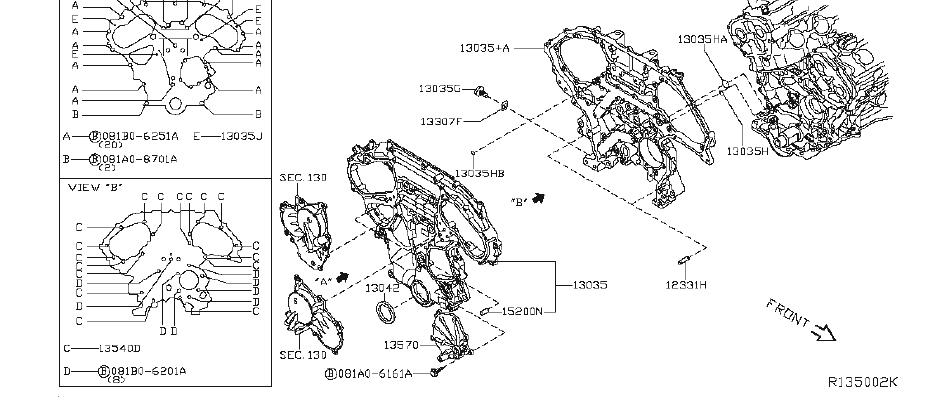 Nissan Maxima Engine Timing Cover Gasket