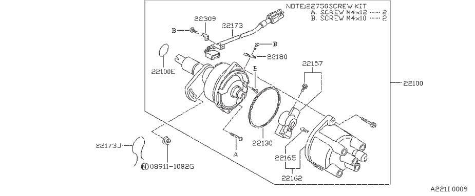 nissan sentra distributor rotor  mitsubishi