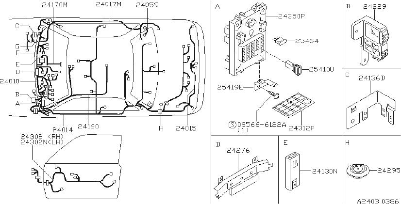 Nissan Pulsar Nx Clip Wiring Harness  Fitting  Room