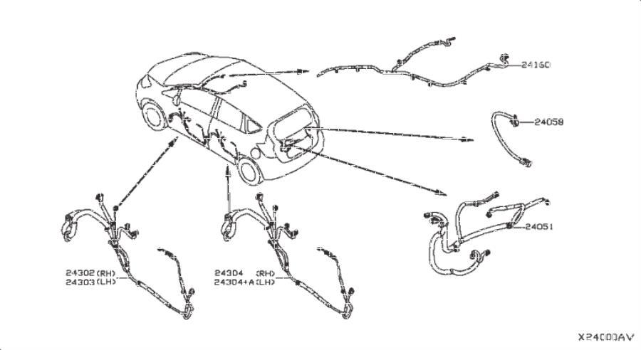 Nissan Versa Note Harness Main