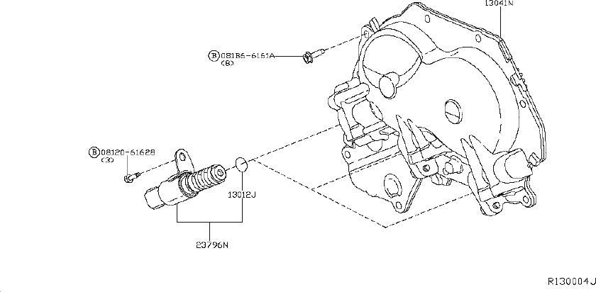 nissan altima engine camshaft follower ext 13231 1kc1a Nissan L Engine