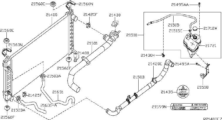 Nissan Altima Radiator Coolant Hose  Lower   Fitting