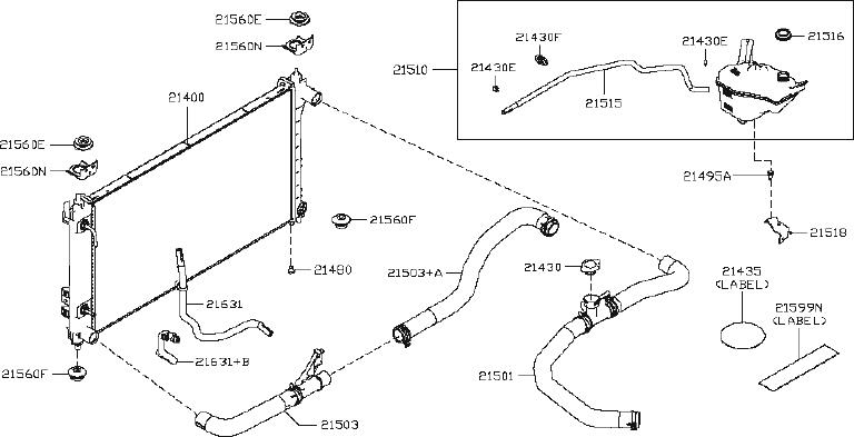 Nissan Altima Hose Radiator   Lower   Cooling