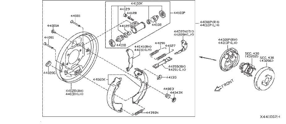 Nissan Nv200 Drum Brake Wheel Cylinder Bolt  Rear