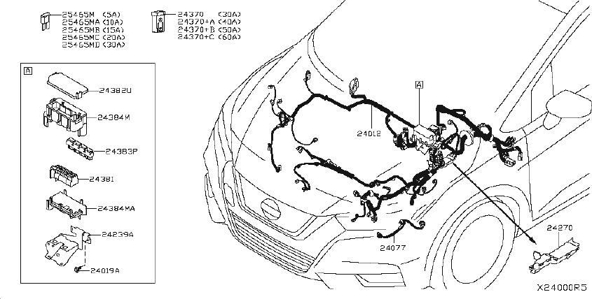 Nissan Versa Fuse Kit  Harness  Door  Car