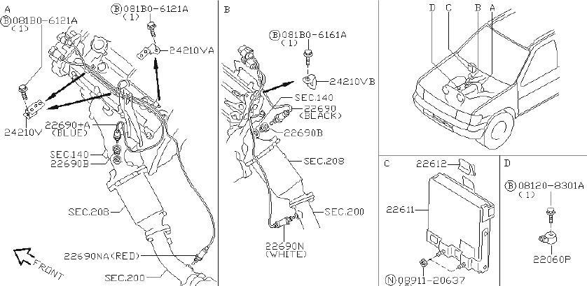 Nissan Pathfinder Oxygen Sensor