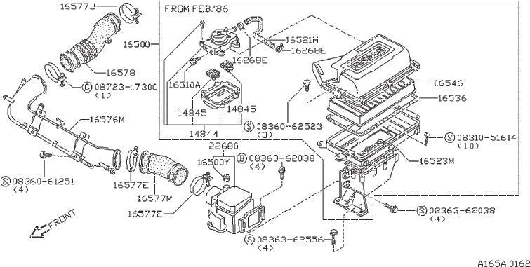 Nissan 200SX Clamp Hose. EAI, AAC - 01555-00881 ...