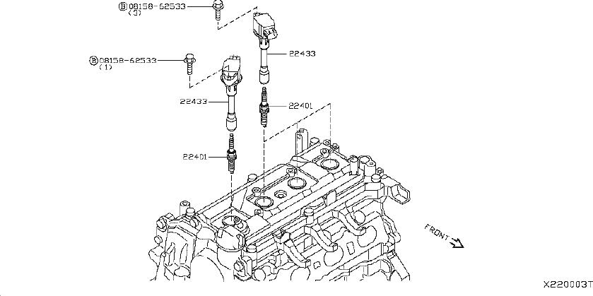 nissan rogue direct ignition coil  system