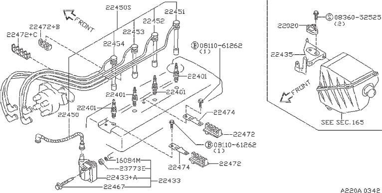 Nissan Altima Spark Plug Wire Set  Yazaki  System