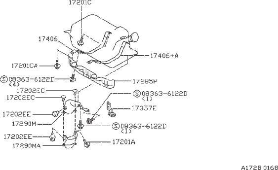 Nissan 300zx Valve Fuel Check  Tank  Assembly