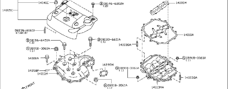 Nissan 350z Grommet  Intake  Exhaust  Engine